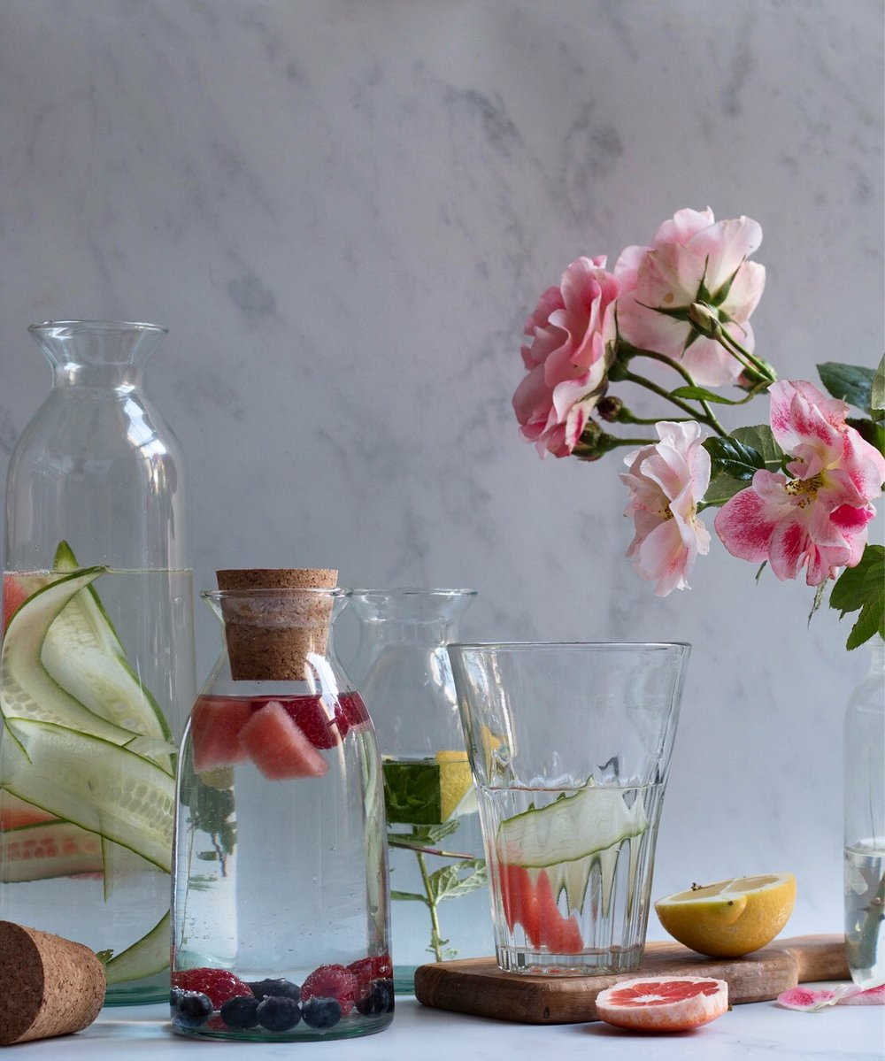 Jette Virdi, stylist and photographer, recipes for flavoured water