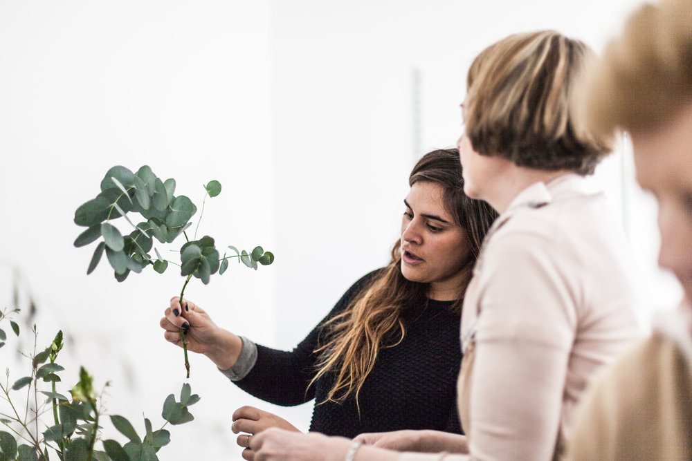 Jette Virdi, stylist based in Dublin, teaches her Floral Workshop in Arran Street East