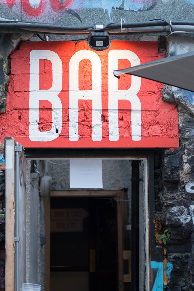 The Bernard Shaw bar photographed by Dublin based stylist, Jette Virdi