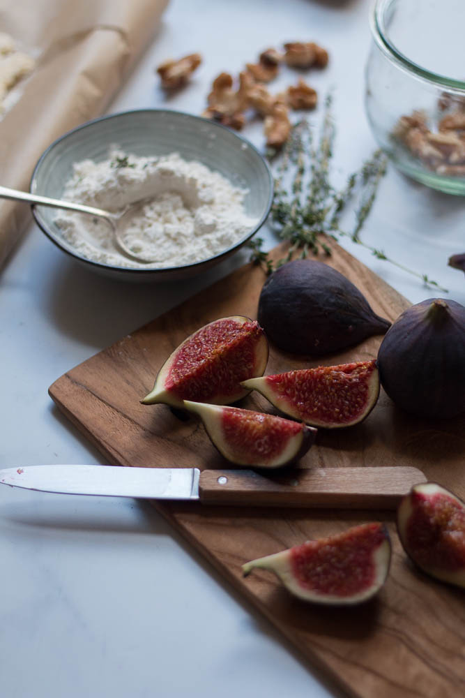 Fig tart photographed by Jette Virdi, based in Dublin