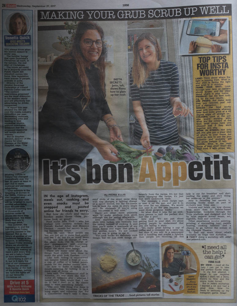 Jette Virdi, food stylist based in Ireland for TheSun.ie
