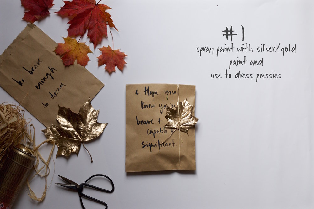 Jette Virdi does DIY with Autumn leaves