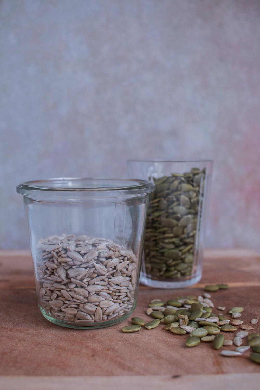 Seeds for stuff 'em and bake 'em recipe by Jette Virdi, gluten free