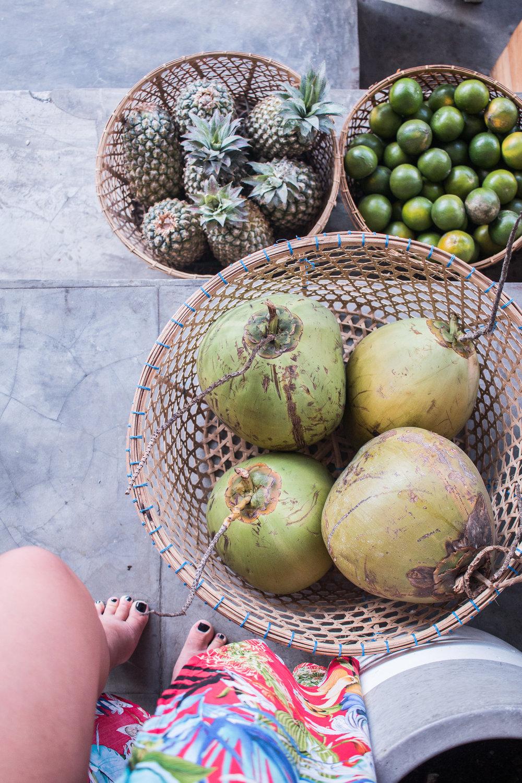Fresh coconuts in Bali