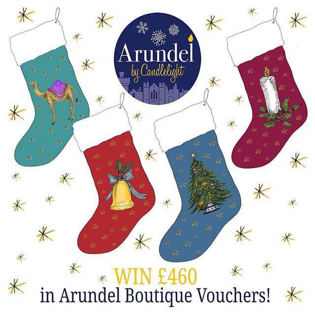 Join in with a chance to win £460 in Arundel Boutique vouchers ✨🎄 on Saturday 8th December during @arundelbycandlelight 22 independent boutiques are taking part in the amazing Stocking Trail! Get your leaflet from any of the tagged venues, Norfolk Arms Hotel - or ourselves of course! Just find the stocking in each shop and record the unique Christmas sketch by @catherinerowedesigns before returning your completed leaflet to us. A lucky winner will be chosen and contacted on Monday 10th December! 🎁🛍✨🎄 #arundelbycandlelight #supportindependent #christmasshopping #familyrunbusiness #independentretailer #stockingtrail #win #boutiquevouchers #arundel #weekend #fun #family #westsussex