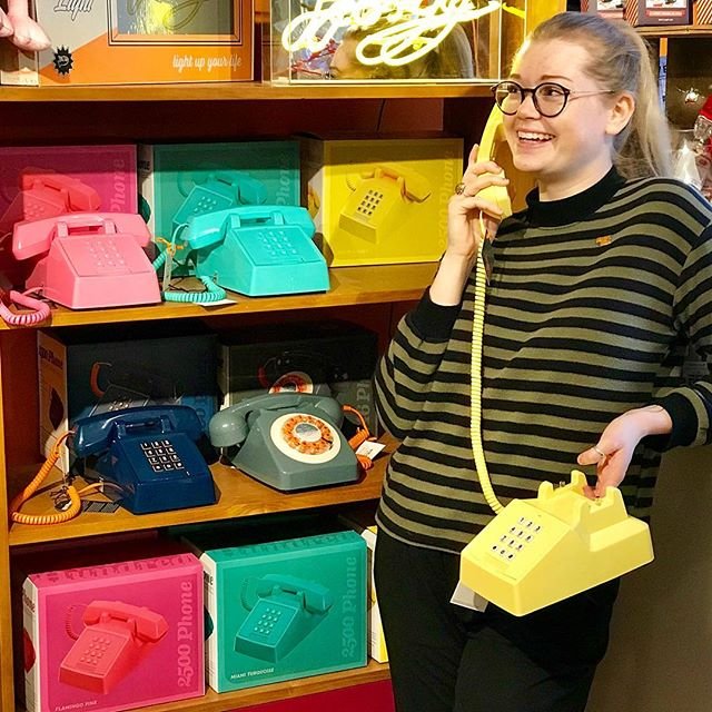 🎁 #AllIWantForChristmas is a funky retro telephone from @wildandwolf ❤️🧡💛💚💙💜 Add a splash of colour to your home this Christmas! 🎄 #staffpickoftheday #retro #vintage #classic #christmasshopping #xmasshopping #giftsforher #giftsforhim #homedecor #supportindependent #familyrunbusiness #independentretailer #shoplocal #arundel #sparksyard #livelikeus