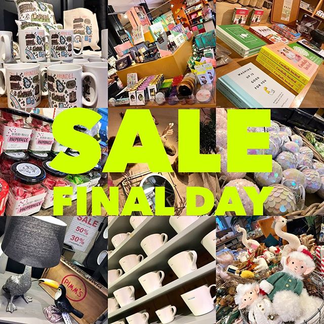 🚨 Today is the FINAL DAY of our spectacular store-wide sale - 30% off everything! EVERYTHING. And 50% OFF CHRISTMASSY STUFF. 🙀🙊😮 We're here till 4pm and closed tomorrow, so don't hang about!  #sale #finaldayofthesale #endofyearsale #flashsale #newyearseve #nye #shoplocal #shopsmall #shopindependent #shopsmalluk #fortheindependents #arundel #sparksyard #livelikeus #happynewyear