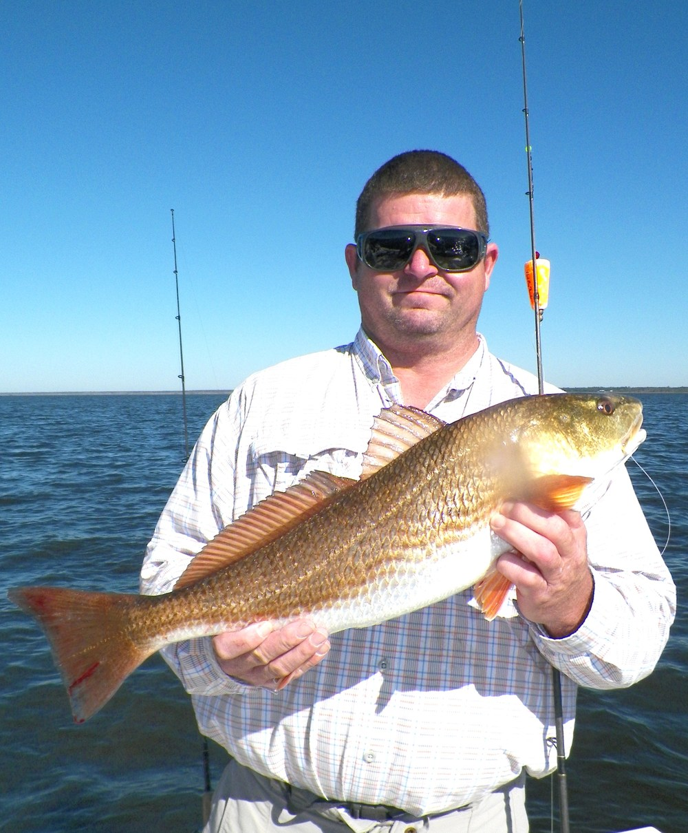 Lee Crowe of Bogart, Ga. with a 6.1 pound red caught Halloween 2014