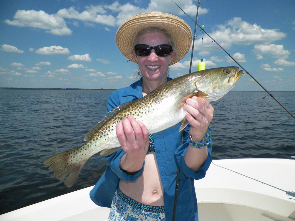 Angie Hulse of up Dahlonega, Ga. way with a great trout