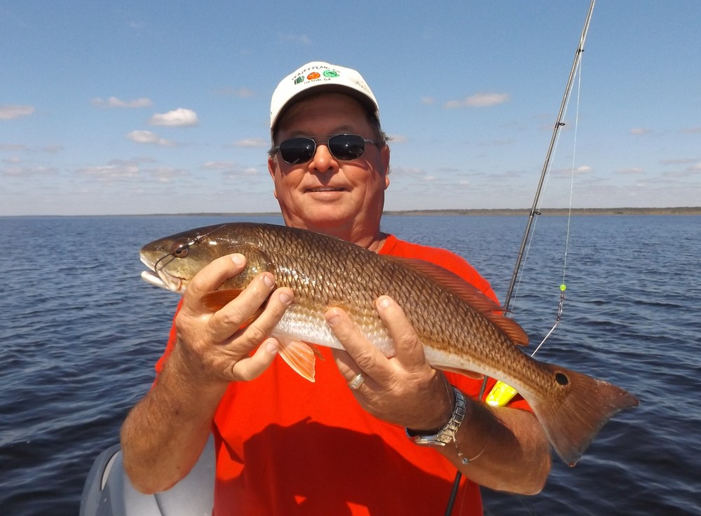 Johnny Veasey of Tifton, Ga with one of several reds caught October 7