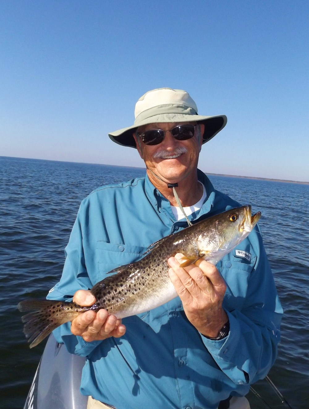 "Wayne walker of Dunnellon, Fl. with a nice 19"" trout caught Tuesday, December 8th"