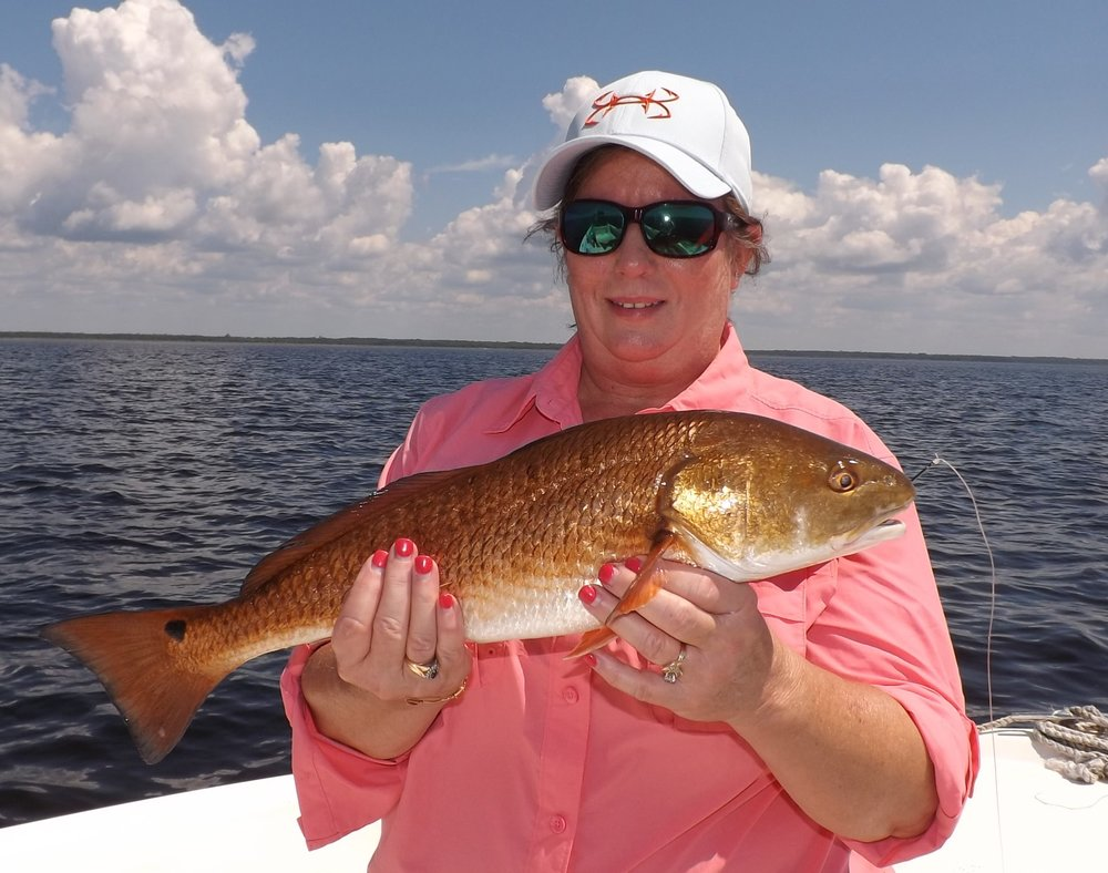 gwen stalnaker of ft.white with a fine red