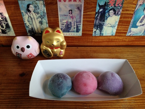 find a rainbow of handmade mochi at Frozen Rickshaw