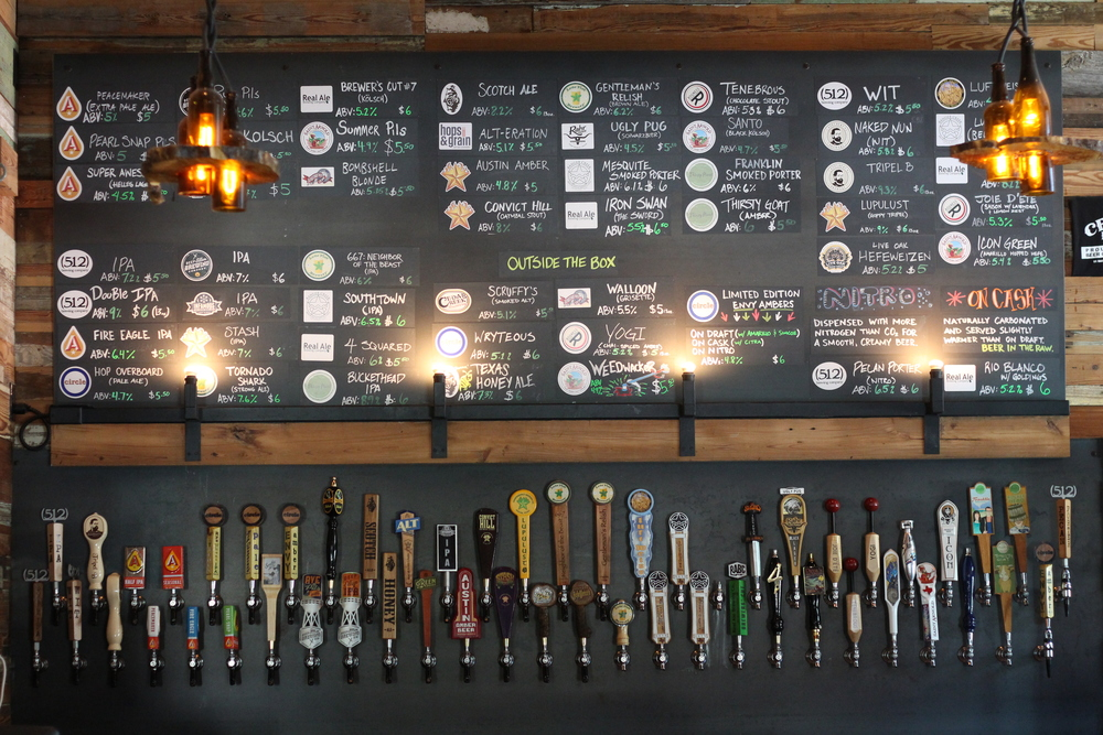 Craft Pride proudly pours all Texas craft beer from their taps