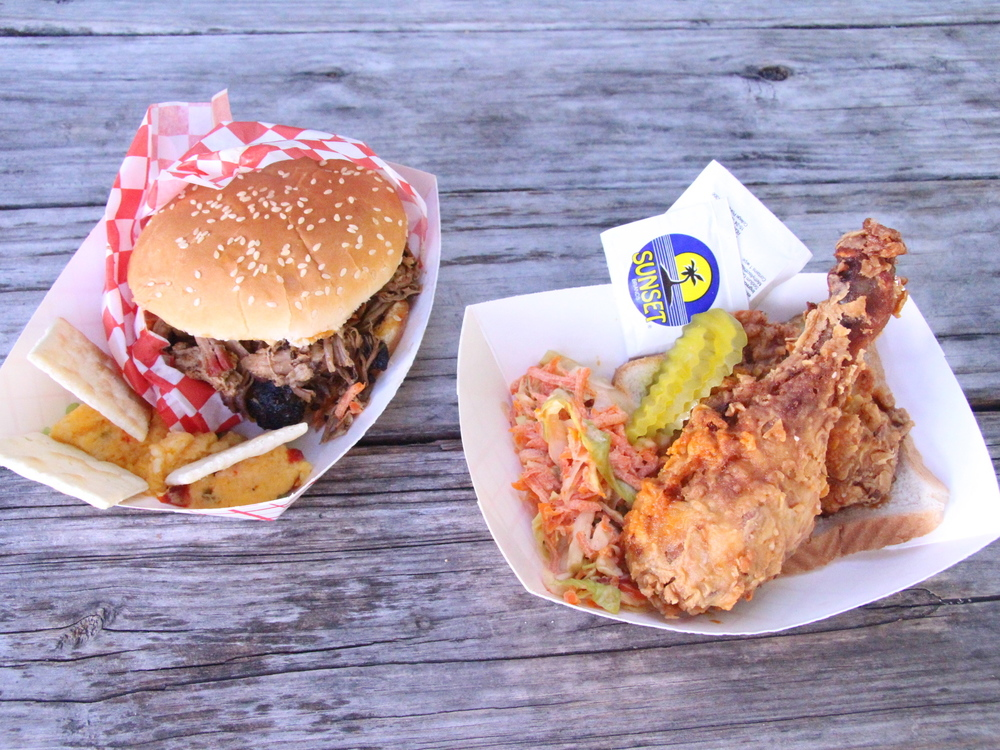 Carolina pulled pork and Nashville hot chicken from Red Star Southern