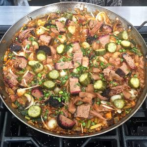 Wood-fired Paella Will Take Your Backyard Party to the Next Level    Food & Wine , May 5, 2015