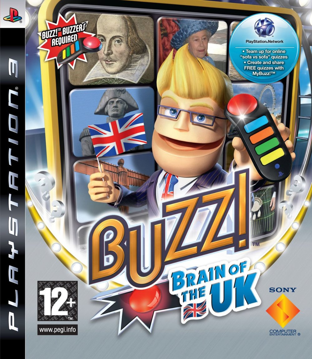 Buzz!: Brain of the UK   Developed by Relentless Software   Published by Sony Computer Entertainment Europe   PlayStation 3, PlayStation 2 and PlayStation Portable