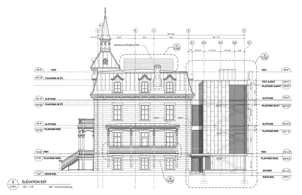 Dessin par Affleck de la Riva architectes.  Fourni par v2com.