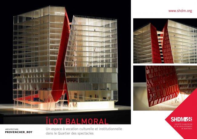 Maquette par Provencher Roy + associés architectes, fourni par la Société d'habitation et de développement de Montréal (  source  ).