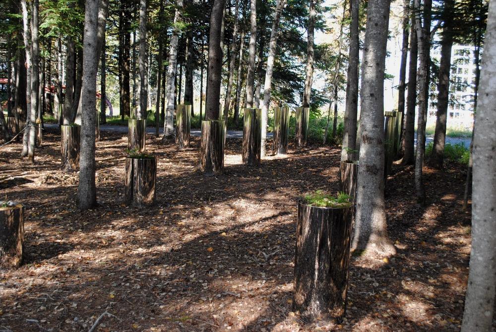 Photo par Sarah Elkin fournie par le Festival international de jardins des Jardins de Métis, via v2com.