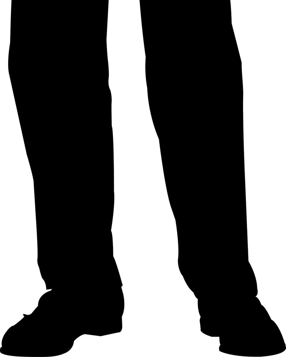 Silhouette de jambes