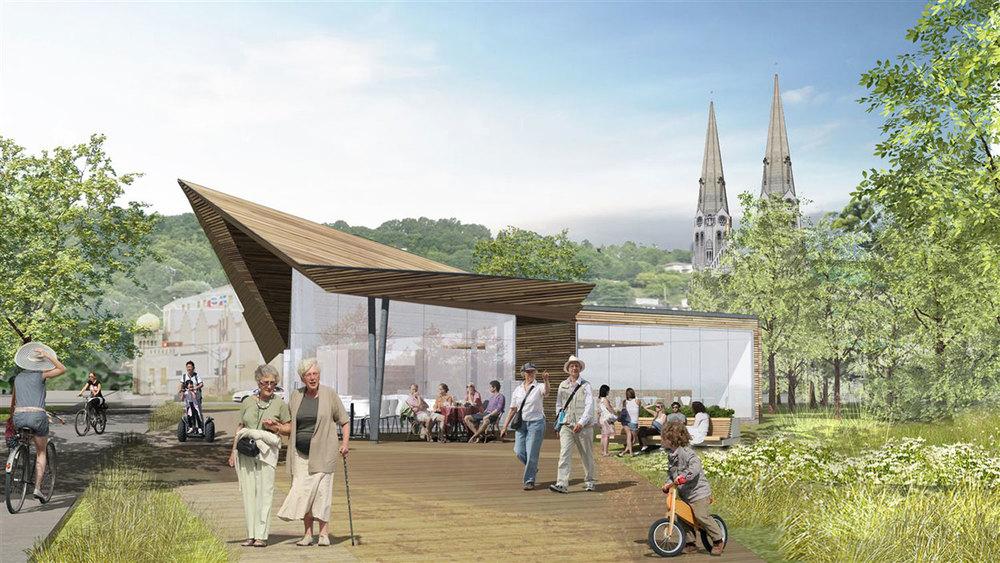 Image : Lemay+DAA stratégies. Source : Corporation de développement du quai de Sainte-Anne-de-Beaupré.