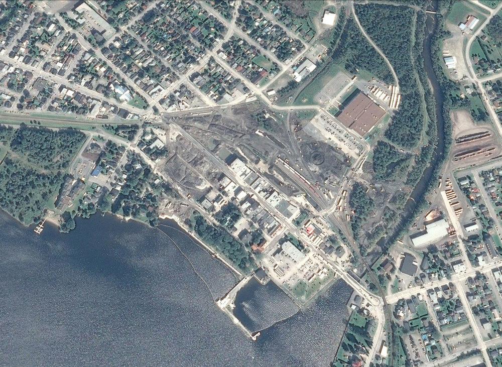 Le centre-ville de Mégantic deux mois après la catastrophe