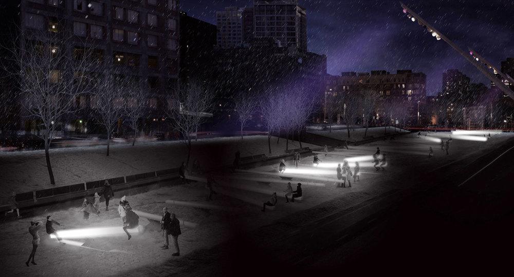Image : Lateral Office, CS Design, Iregular, Maotik, Mitchell Akiyama et EGP Group. Source : Design Montréal.