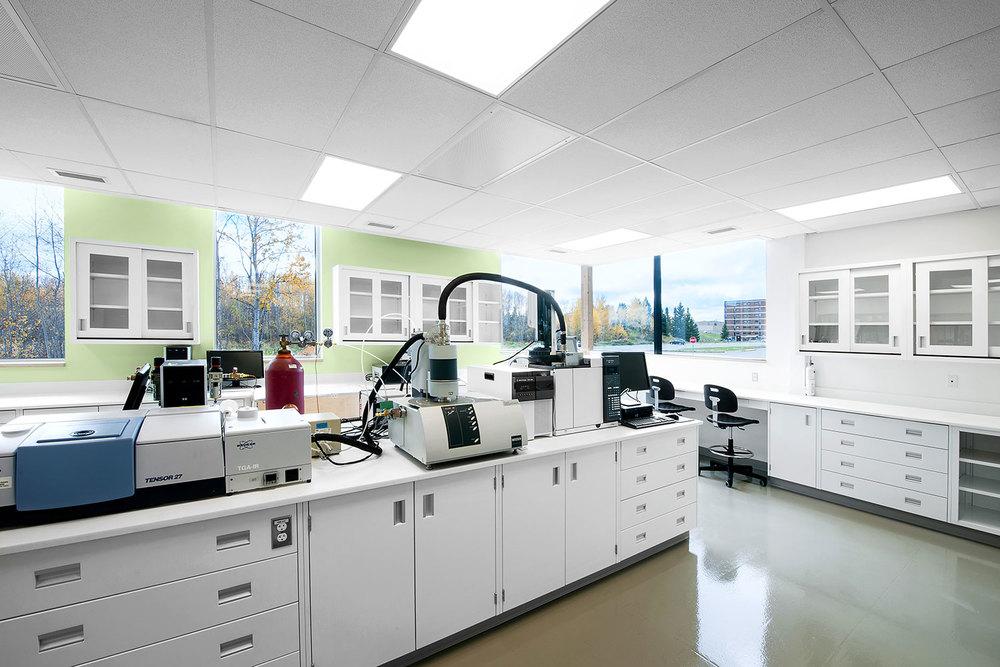 Vue d'un laboratoire