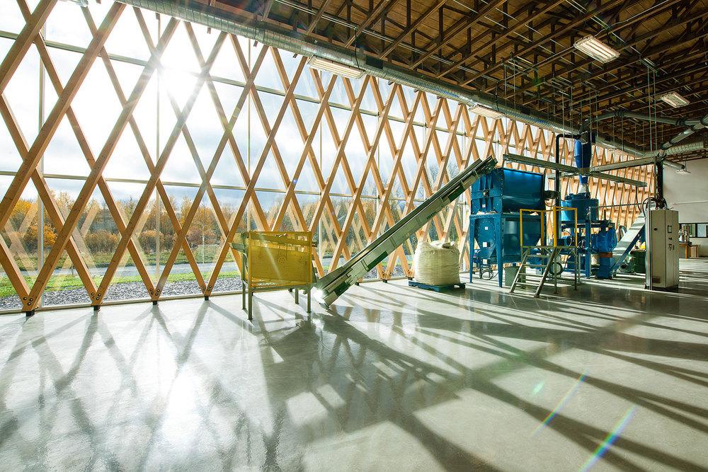 Vue de l'intérieur du laboratoire de biomasse
