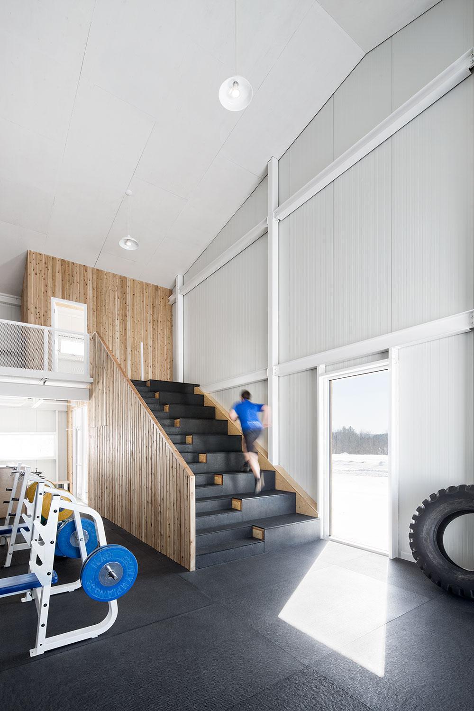 Escalier d'entraînement