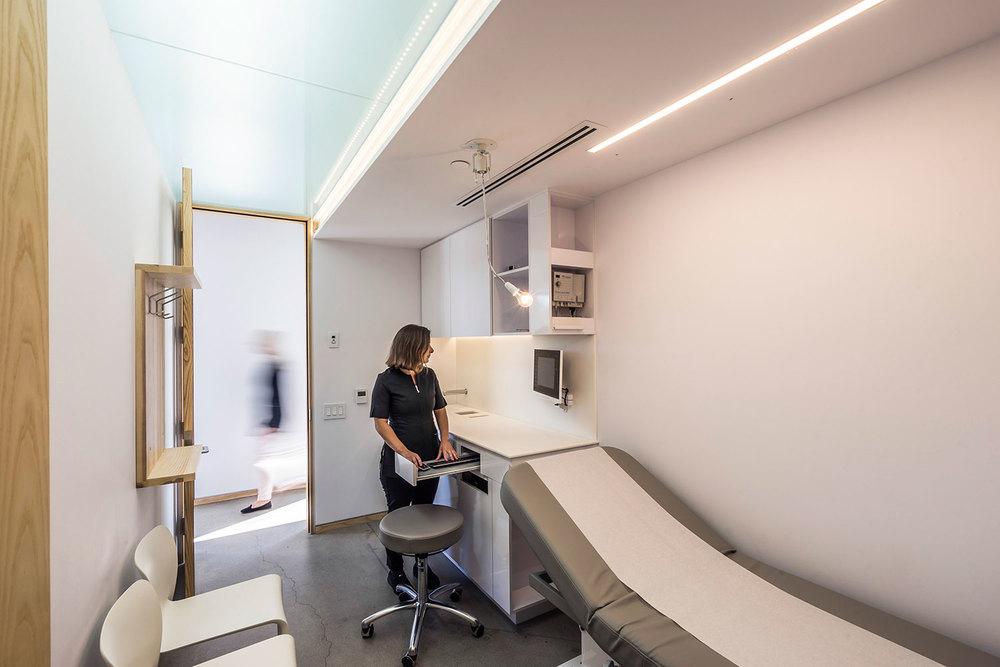 Salles d'examen ergonomiques