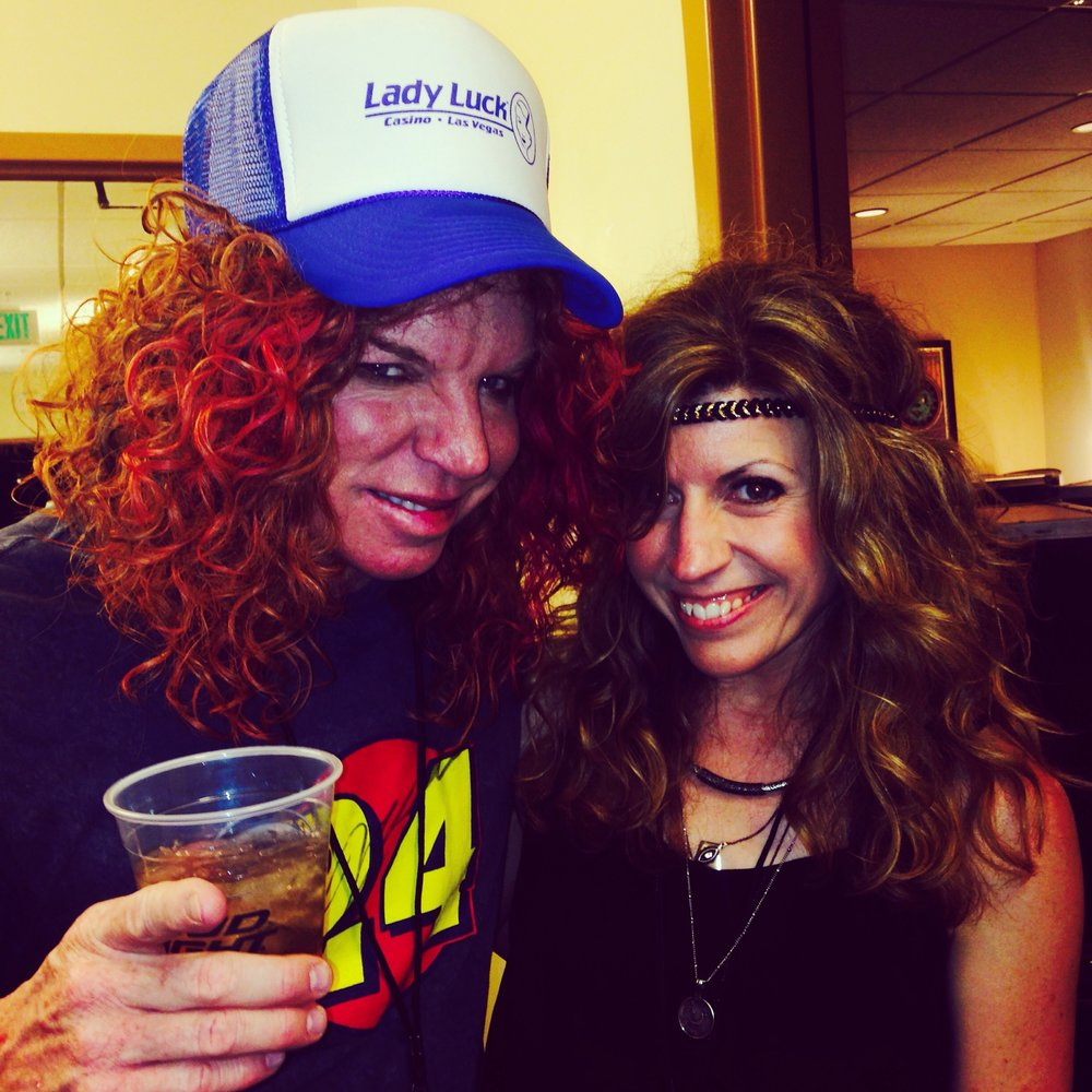 With Carrot Top in Las Vegas
