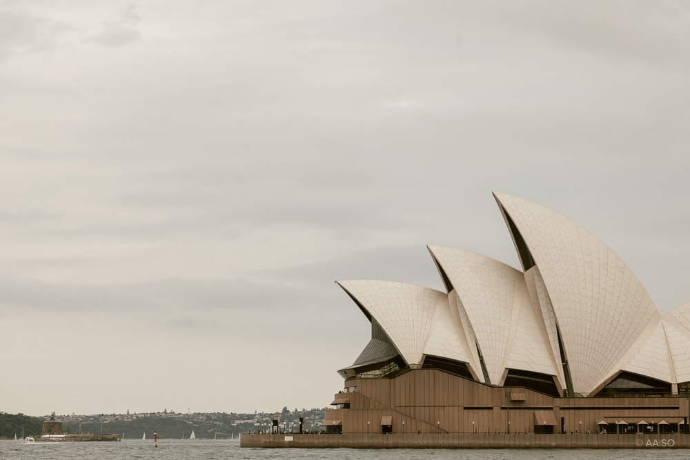 Sydney Opera House viewed from side