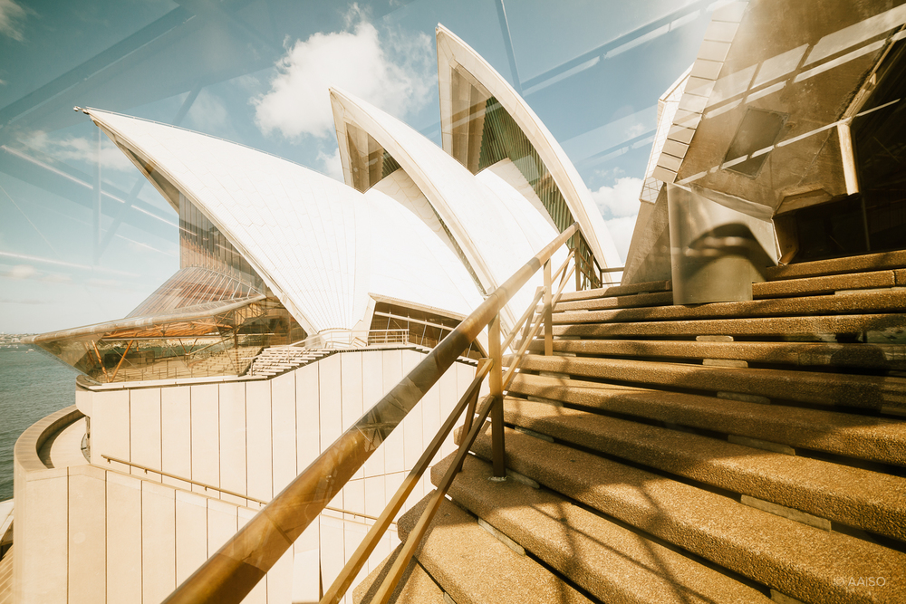 View through the windows of Sydney Opera House