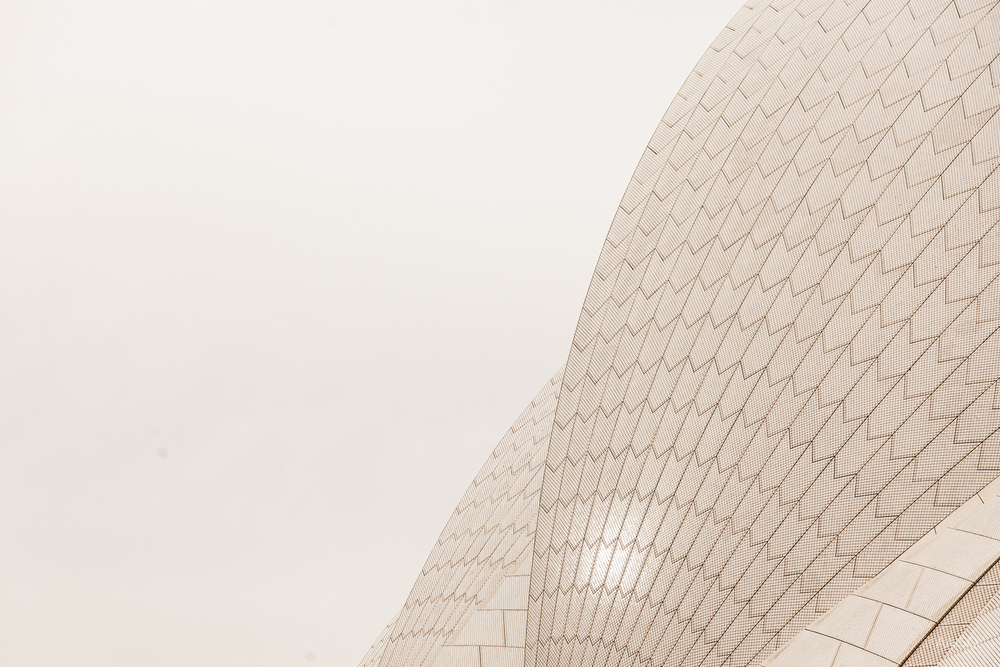 Off-white tiles, Sydney Opera House