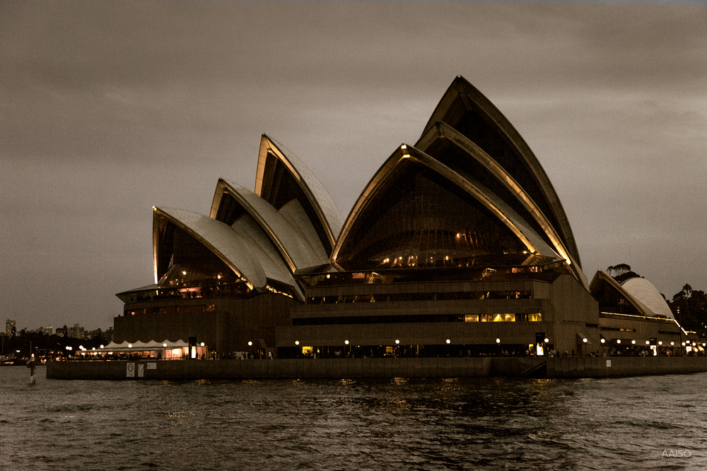 Sydney Opera House, seaside view