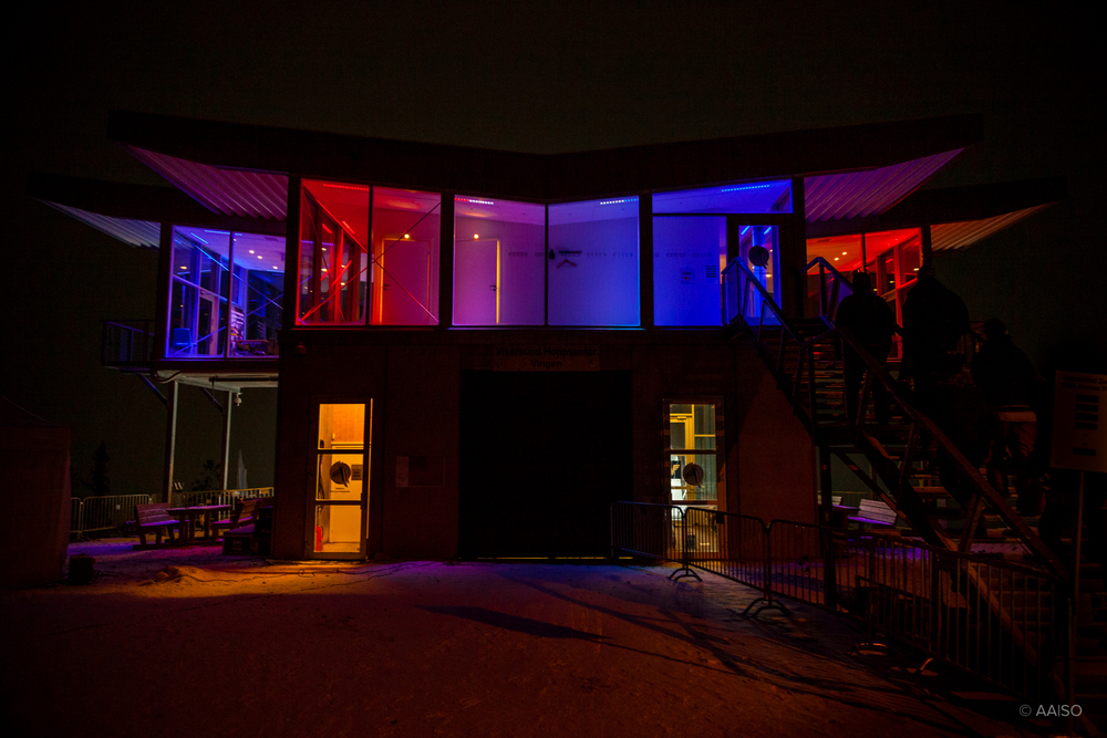 Vikersund, Ski Lounge above the inrun