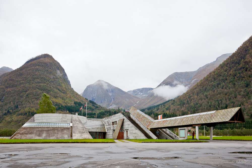 Norwegian Glacier Museum by Sverre Fehn. Entrance
