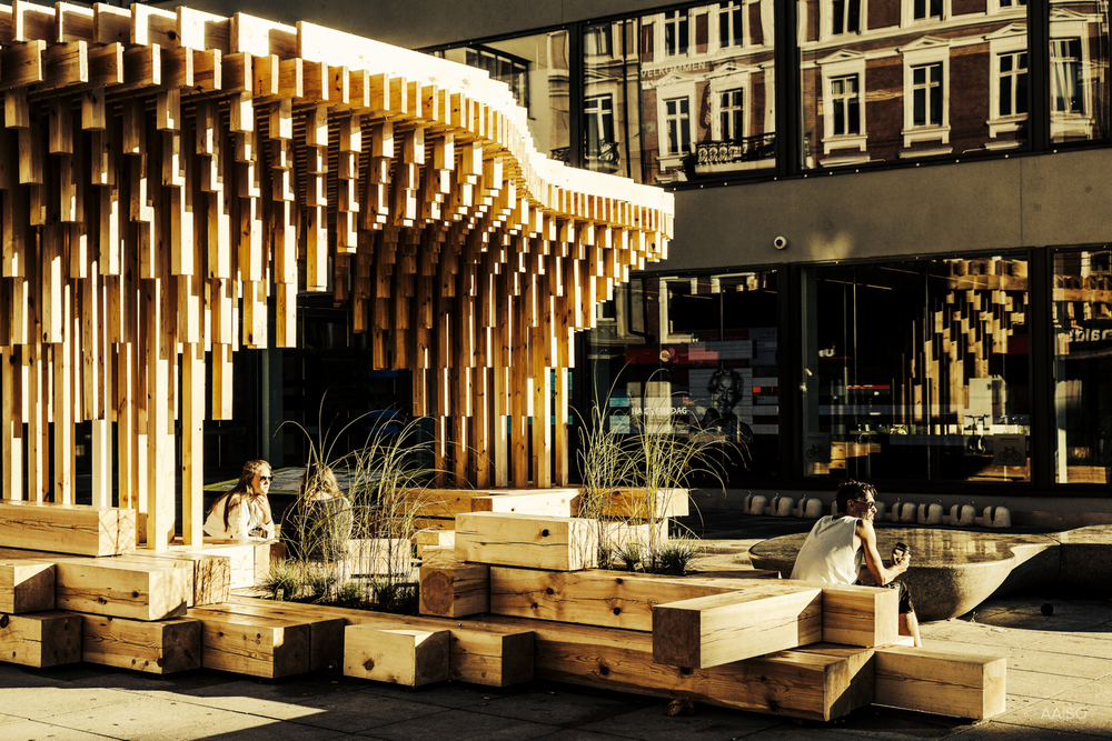 Wooden Pavillion designed by Architecture Students