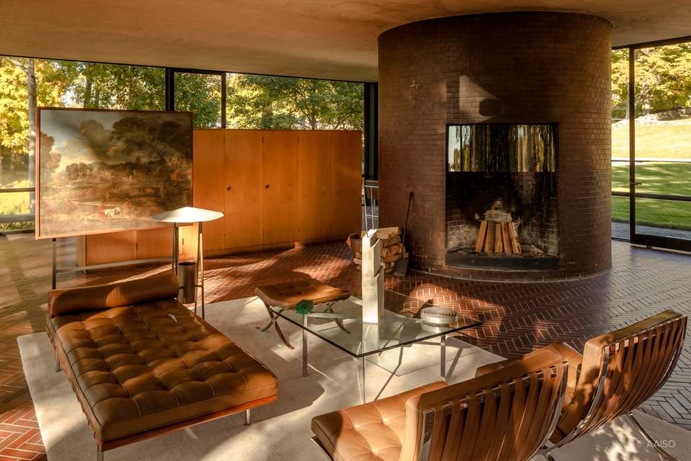 Philip Johnson's Glass House. Interior