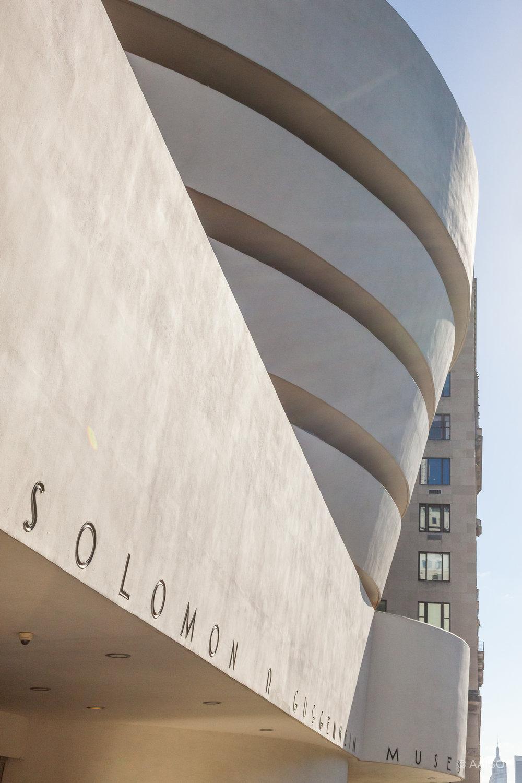 Solomon R. Guggenheim Museum Entrance