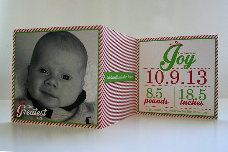 Cutest birth announcement/Christmas card that I've ever seen. (I may be biased though...)