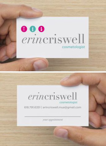The business cards double as appointment reminders