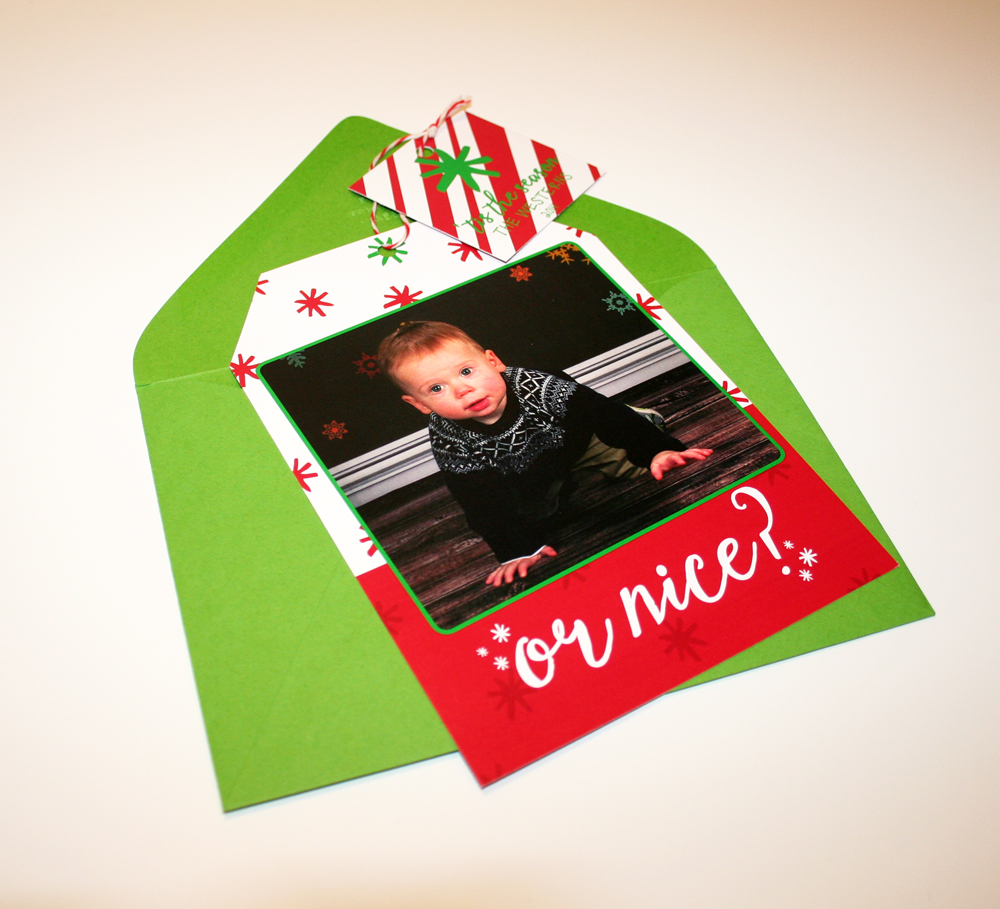 or nice? ... Adding the extra tag with the merry greeting brought something fun to these cards.