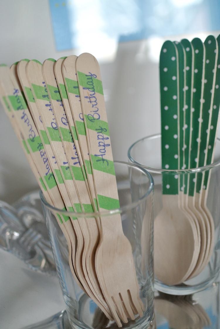 I don't know what it is about wooden utensils but they really up the ante of a party!