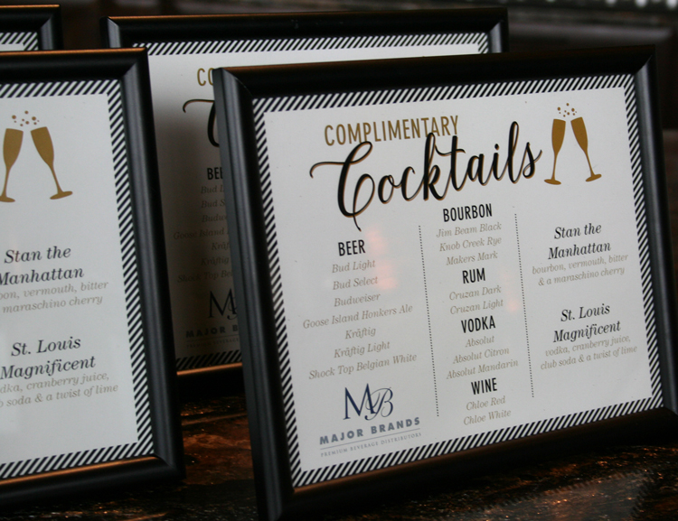 Cocktail list