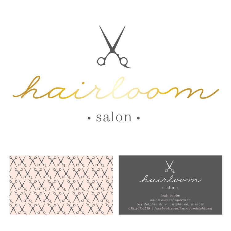 7.  Hairloom Salon:  Branding for a third generation stylist