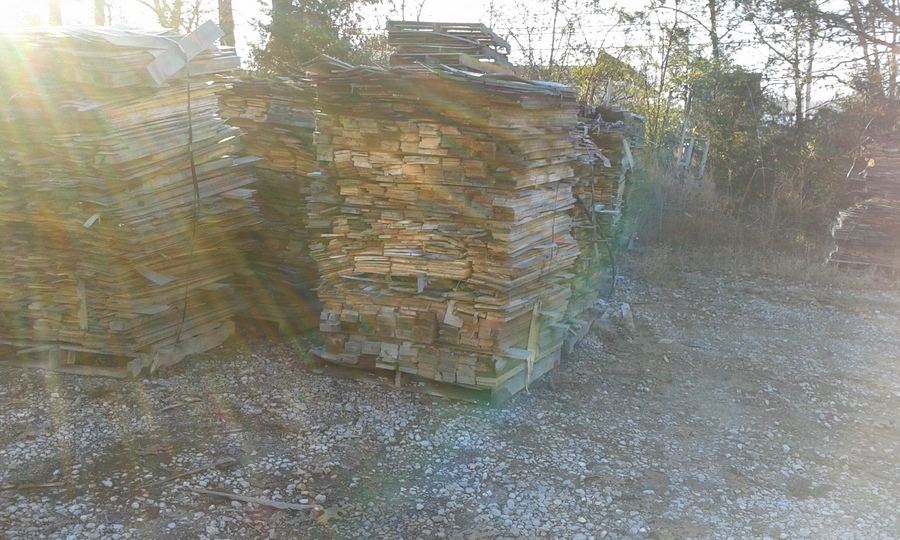 We didn't take an entire pallet's worth, though the merits of trying to balance one and a half tons of wood in the back of a 3/4 ton pickup were debated ...
