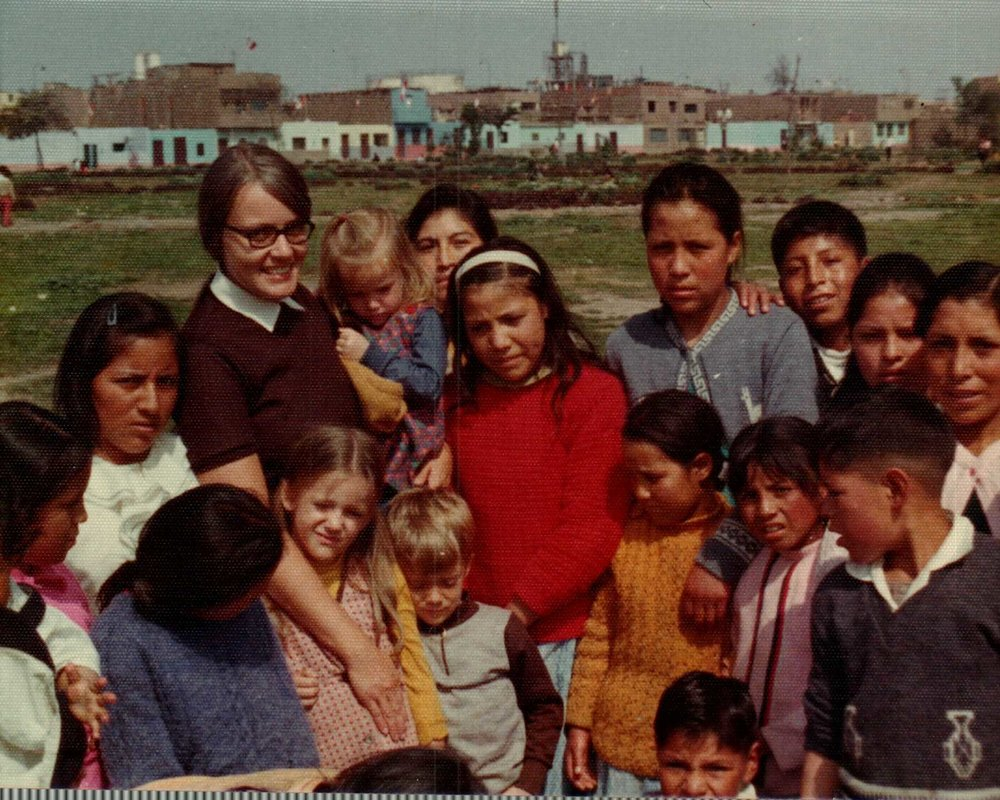Lima Peru in about 1976. I'm in Mom's arms.